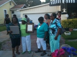 Blonda Mack present the proclamation
