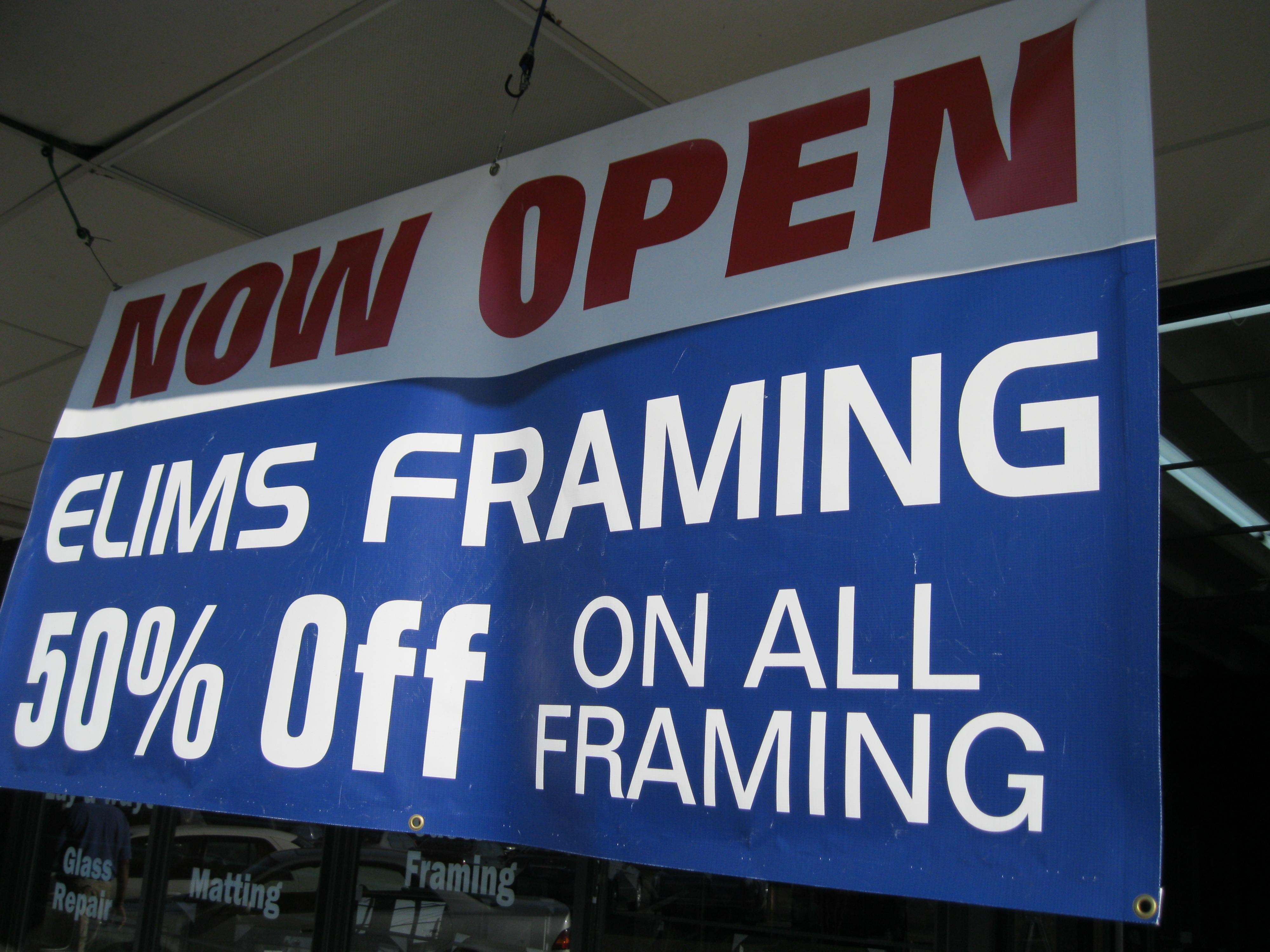 Elim\'s: West Jackson\'s Newest Framing Business – West Jackson