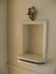 Old telephone nook with sconce