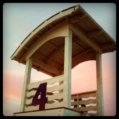 Lifeguard station at Gulf Shores, AL