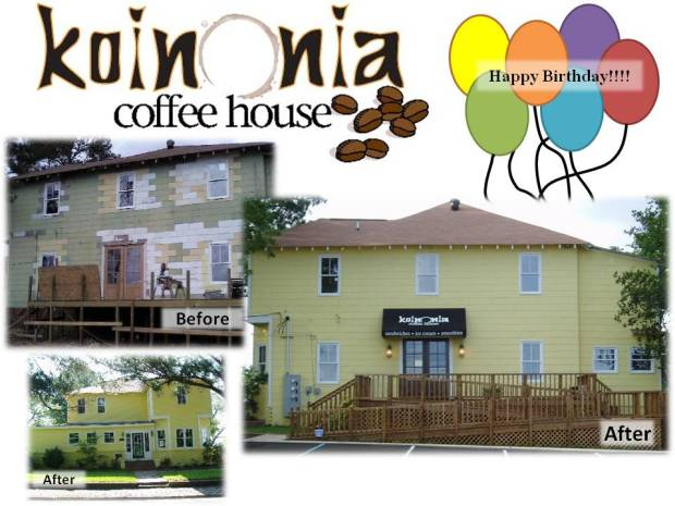 coffee house birthday celebration
