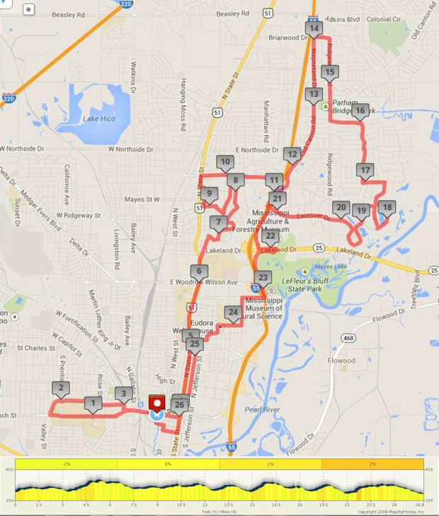blues marathon route