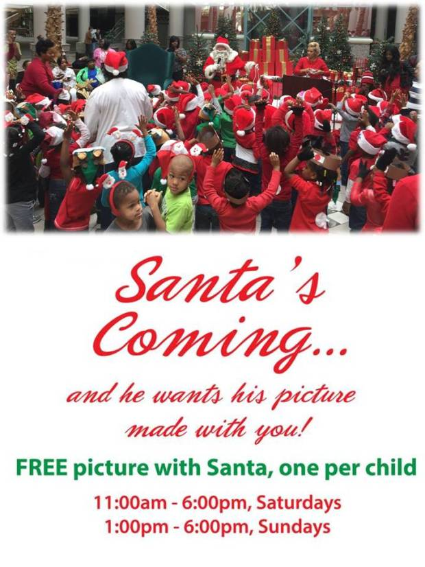 free picture with santa